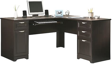 magellan espresso l shaped desk realspace magellan collection l shaped desk