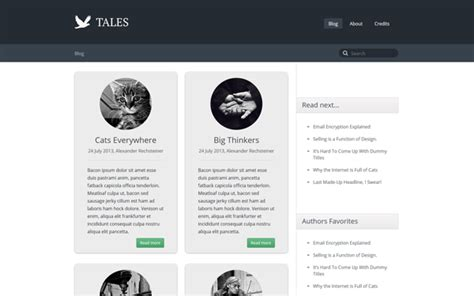 themes blog bootstrap tales responsive blog theme blogs magazines