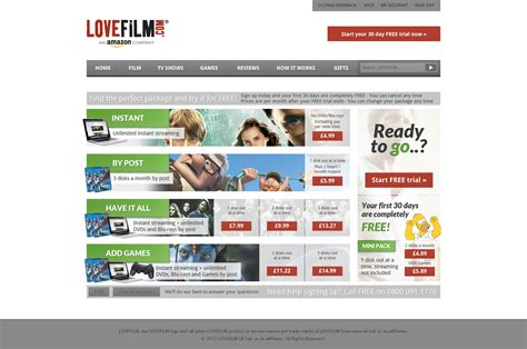lovefilm jobs lovefilm price plan page ui ux concept work on behance