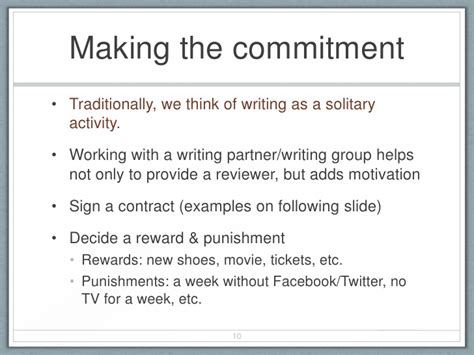 Commitment Letter For Work Improvement Breaking The Article Writing Process For New Academics
