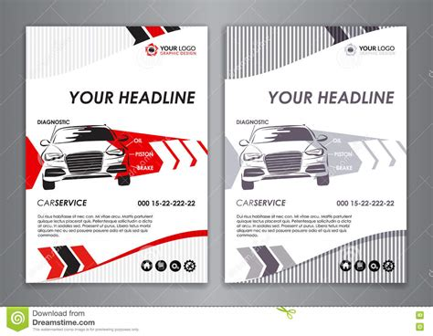 car service business card templates a5 a4 service car business card template auto repair