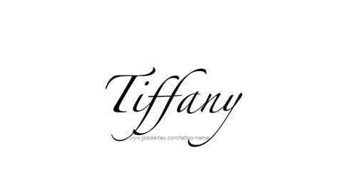tiffany tattoo name designs