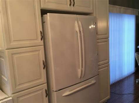 gap between top of fridge and cabinets counter depth refrigerator contractor errors