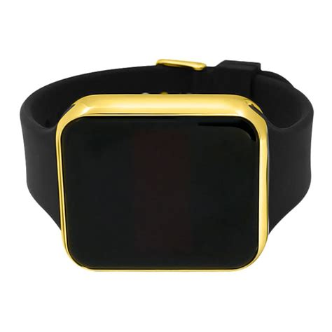 Led Touch Black led touch screen gold rectangle black band touch