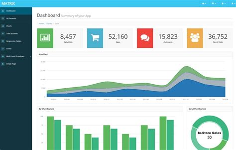 download layout bootstrap free matrix free bootstrap admin template webthemez