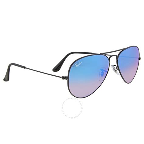 ray ban aviator light blue lens ray ban aviator blue gradient