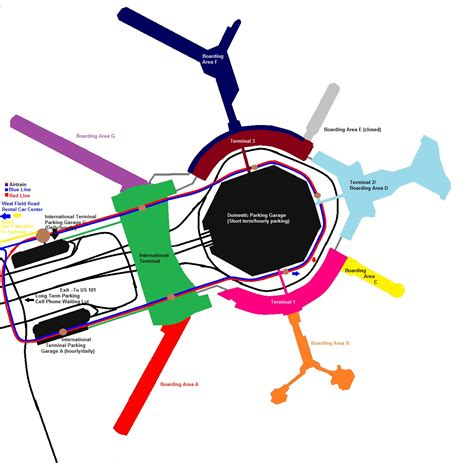 san francisco airport terminal map us airways sfo terminal map my