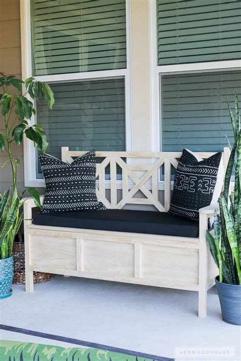 build  diy outdoor storage bench