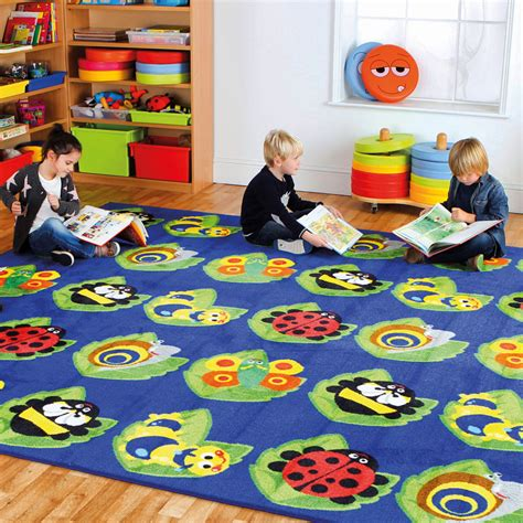 large classroom rug back to nature square bug placement carpet