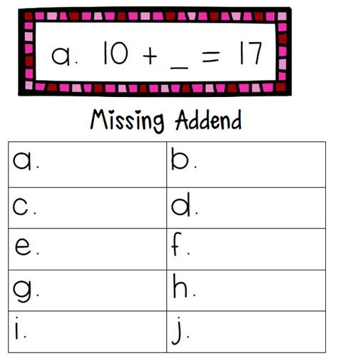 Missing Addend Worksheets by 1000 Images About Missing Addends On