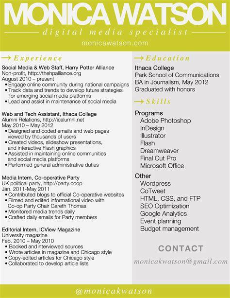 sample agency resume