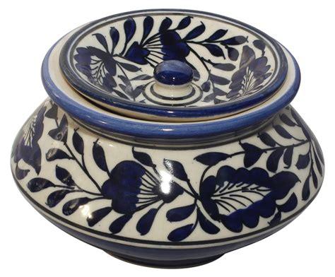 Handmade Jars - jars bulk handmade ceramic jar with lid blue