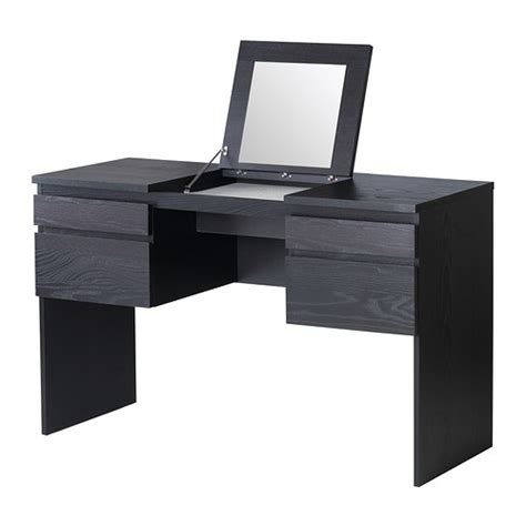 Ikea Vanity Table With Mirror And Bench Ransby Dressing Table With Mirror Black Brown 125x50 Cm Ikea