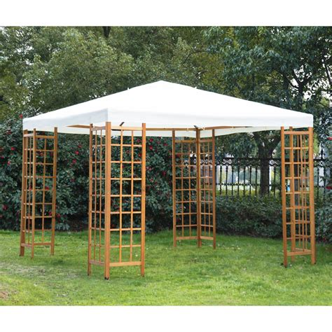 Outsunny 10 X 10 Outdoor Patio Canopy Pavilion Gazebo Patio Gazebo 10 X 10