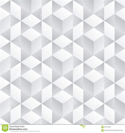 abstract seamless 3d white cubes vector background stock