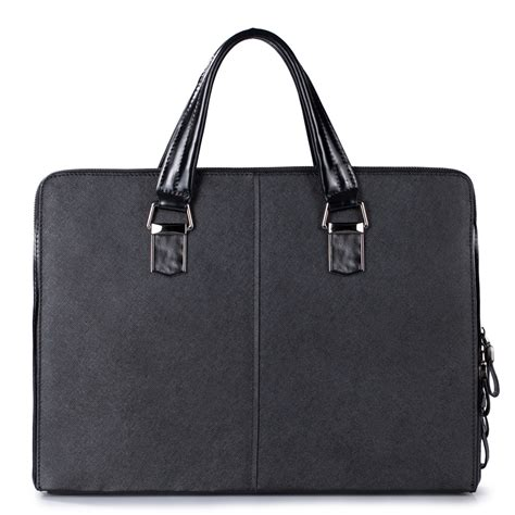 Fashion Bag Import P1923 Black sammons import cowhide fashion business tote handbag black