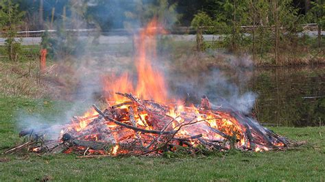 backyard burning fire chief warning about fall burning my haliburton now