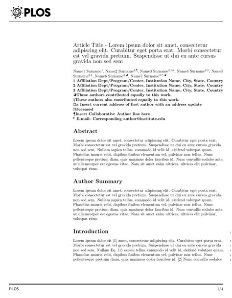 Plos One Cover Letter plos one cover letter address cover letter templates