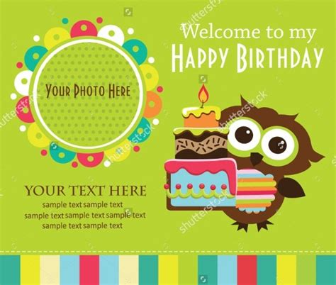 kids birthday card template svoboda2 com