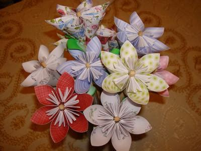 Simple Origami Flower Bouquet - kudsudama flower bouquet