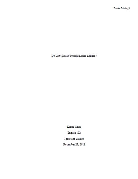 How To Make A Cover Page For A Research Paper - apa cover page