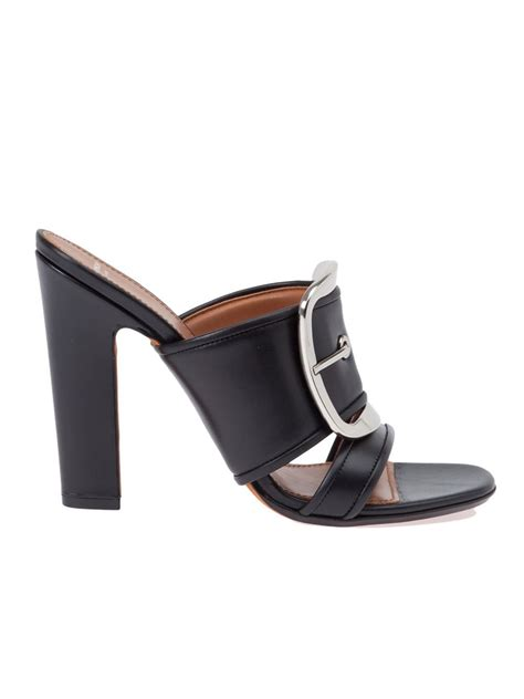 givenchy sandals givenchy buckle detail sandals in black lyst