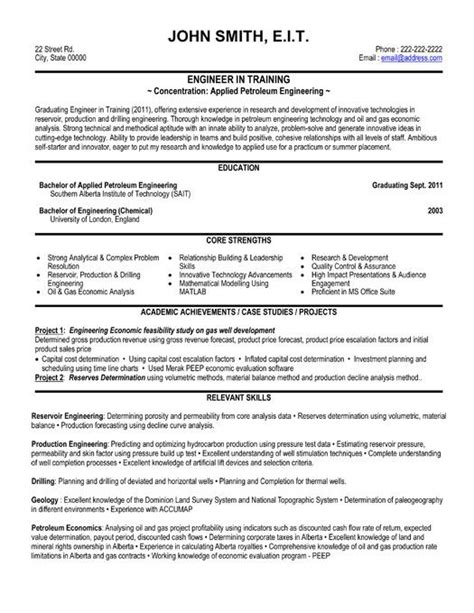sample resume for fresh graduate petroleum engineer