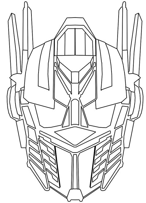 optimus prime face coloring pages