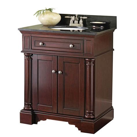 Allen Roth Vanities shop allen roth albain auburn undermount single sink bathroom vanity with granite top actual