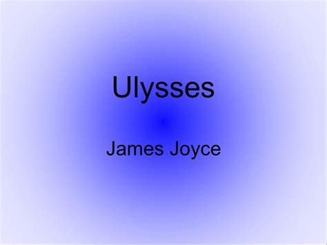 themes of ulysses by james joyce ulysses