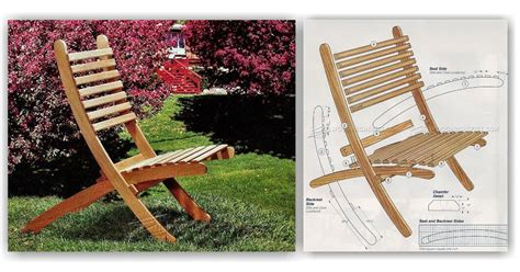outdoor folding chair plans woodarchivist