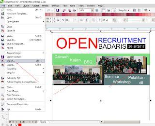 tutorial corel draw x5 membuat brosur tutorial coreldraw membuat brosur open recruitment guru