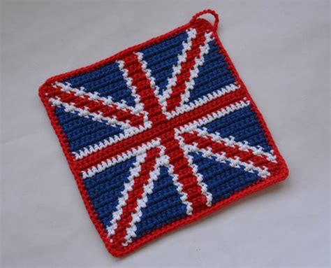 crochet pattern union jack union jack potholder crochet pattern for beginners