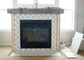 fireplace makeover octagon dot tile averie