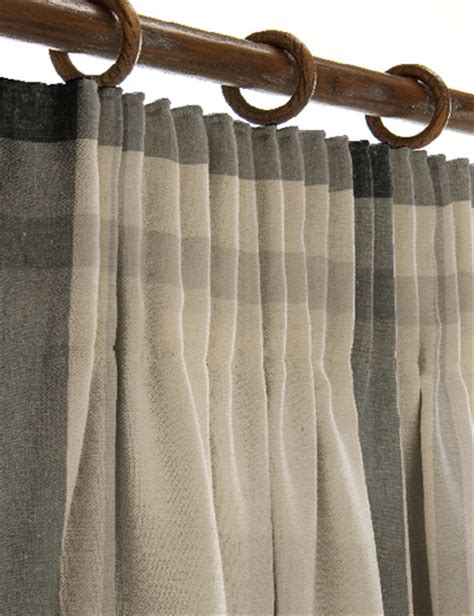 Curtain Details For Oversized Check Natural Grey Next