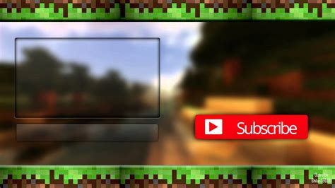 minecraft outro template maker minecraft outro