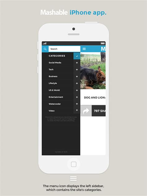 layout app mashable mashable iphone app redesign on behance