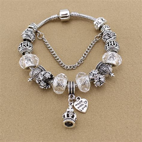 Crown Bead Bracelet pandora crown bead