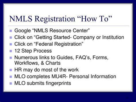 Nmls Background Check Requirements Ppt Nh Vt 2011 Joint Compliance Conference Powerpoint Presentation Id 1458507
