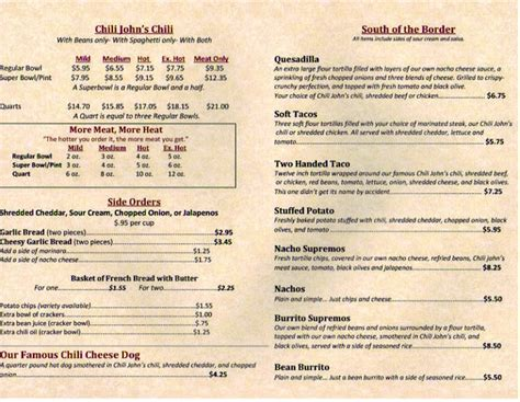 4 best images of printable restaurant menus free