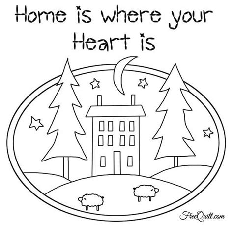 quilt pattern home is where the heart is home is where your heart is wall hanging quilt pattern