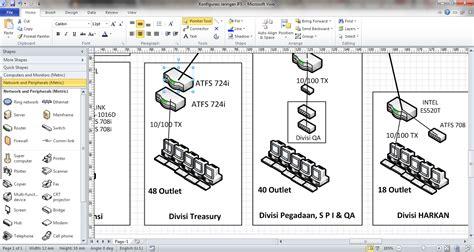 membuat flowmap di visio membuat desain jaringan menggunakan microsoft visio 2010