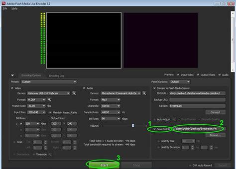 adobe premiere pro live stream how to save your live stream using adobe flash media live