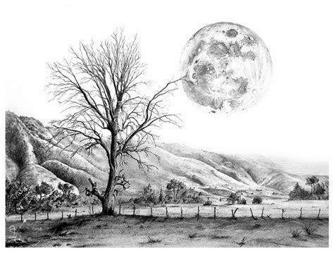 Landscape Drawing 10 Beautiful Landscape Drawings For Inspiration Hative