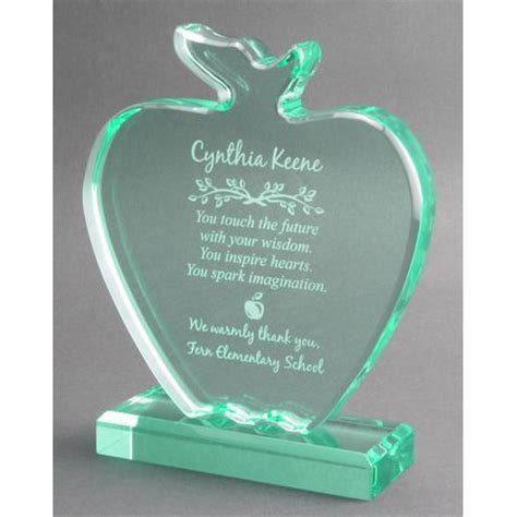 Jade Apple Teacher Award Plaque