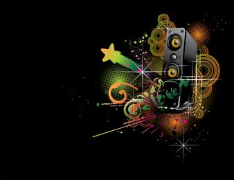 dj themes songs silhouette dj boy with speakers vector download