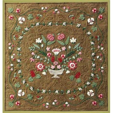 vintage flower pattern quilt antique flower garden wool applique quilt pattern