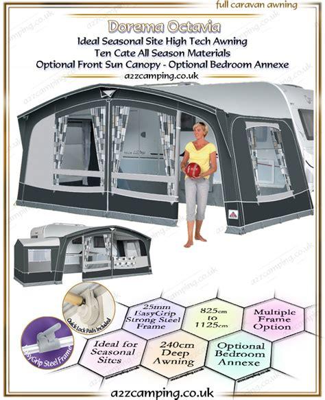 all weather caravan awnings dorema octavia full permanent site awning dorema all