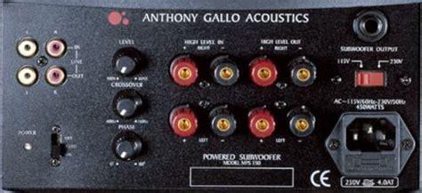amp super  amp  anthony gallo set  ecousticscom