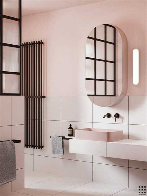 eclectic bathroom eclectic bathroom with pink walls my paradissi